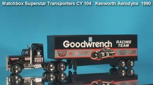 kenworth models list matchbox truck kenworth aerodyne 1990 youtube