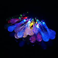 Blue Led String Lights by Ledniceker Multi Colored Solar Led String Lights With Garden Solar