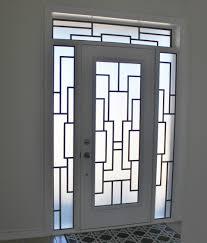 bevelled glass door wrought iron vs decorative glass door inserts