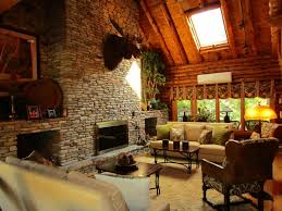 Exposed Beam Ceiling Living Room by Rustic Living Room With Metal Fireplace U0026 Cathedral Ceiling In