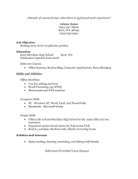 Samples Of Resumes For Highschool Students by Resume For College Student With No Experience Jennywashere Com