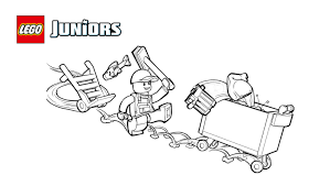 lego juniors garbage truck coloring page coloring pages lego