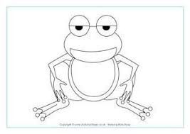 tadpole coloring page frogs
