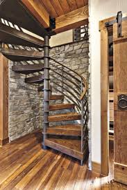best 25 small bathroom decorating ideas on pinterest bathroom best 25 spiral staircases ideas on pinterest spiral staircase exposed wood beams a barn style door from real carriage door company and stone walls