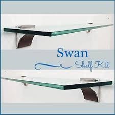 Glass Shelving Brackets by Swan Floating Glass Shelf Kit 3 8