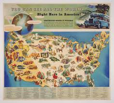 A Map Of America by You Can See All The World Right Here In America