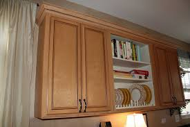 Crown Moldings For Kitchen Cabinets Ccff Installed This Crown Molding And Trim To Finish Off The