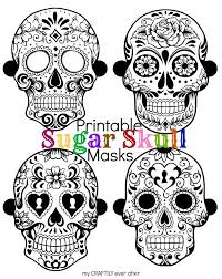 Halloween Masks Printables Halloween Printable Sugar Skull Masks See Vanessa Craft