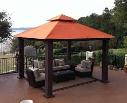 Outdoor Patio With Roof by Decorations Cool Canopy Outdoor Design In Courtyard With Tile