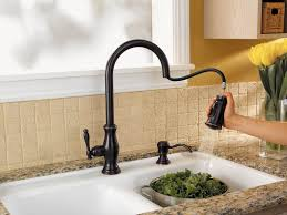 Moen Kitchen Faucets Oil Rubbed Bronze Faucet Design Decorating Ideas Wooden Dining Table White Marble
