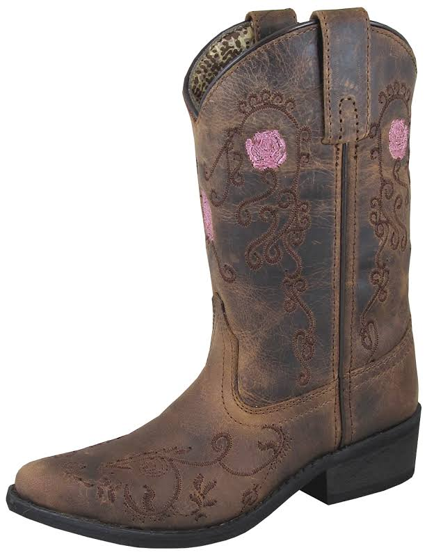 Smoky Mountain Childs Rosette Snip Toe Boots 1.5