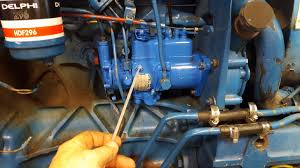 ford 3910 injector pump removal install