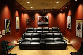 Home Movie Theater Wall Decor Contemporary Home Theater With Crown Molding By Jg Development