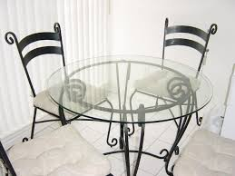 Glass And Wrought Iron Table And Chairs PIER  Dining Room Set - Pier one dining room sets