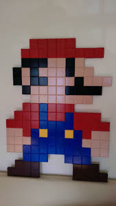 Super Mario Home Decor by Lego Super Mario Brothers Pixel Art 3d 2d Luigi By Jediresale