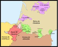 Map Of France And Spain by Spanish Conquest Of Iberian Navarre Wikipedia