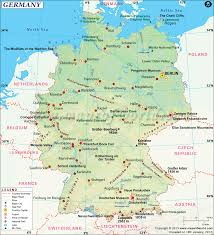 Map Of South Of France by Germany Map Map Of Germany And Surrounding Countries