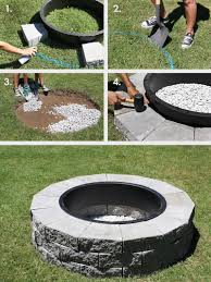 Ideas For Fire Pits In Backyard by Make Your Own Fire Pit In 4 Easy Steps U2013 A Beautiful Mess