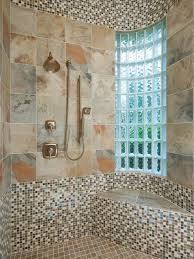 Mosaic Bathroom Ideas Bathroom Wall With Seamless Light And Darker Blue Mosaic Tiles