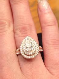 neil lane engagement rings neil lane rose gold pear shape double halo beautiful