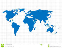 Map Grid Blue Vector Map World Map Template World Map On The Background Of