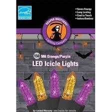 halloween pathway lights m6 purple and orange color led icicle halloween lights 150