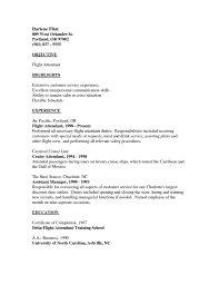 Customer Service Experience Resume Sample Resume For Flight Attendant With No Experience Resume For