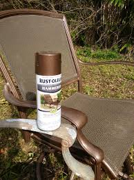 Painting Wicker Patio Furniture - rustoleum hammered metallic spray paint for my upcycled patio set
