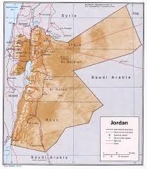 Jordan Country Map Jordan Maps Perry Castañeda Map Collection Ut Library Online
