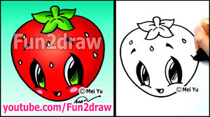 art lessons easy things to draw strawberry youtube