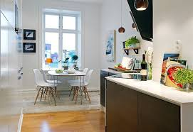 cute kitchen and dining area in interior design for open kitchen