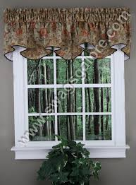 Tuscan Kitchen Curtains Valances by Como Lined Scalloped Valance Cinnabar Stylemaster Kitchen
