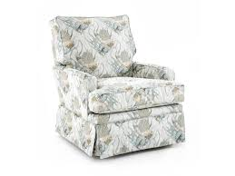 Upholstered Glider Capris Furniture Sg120 Transitional Swivel Glider Chair With Kick