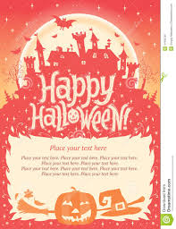 happy halloween halloween poster card or background for