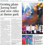 Genting plans Jurong hotel and new rides at theme park
