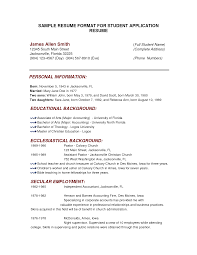Resume Sample Format For Seaman by Resume Educational Background Format Resume For Your Job Application