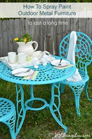 How To Spray Paint Metal Outdoor Furniture To Last A Long Time - Colorful patio furniture