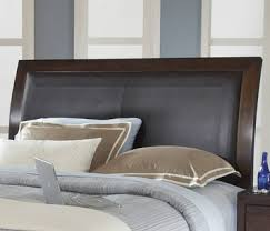 california king storage bed w synthetic leather headboard panel