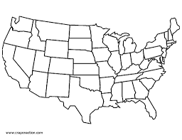 United States And Canada Map by Map Of The United States Of America Coloring Page Free Printable