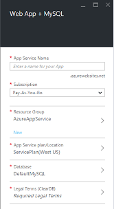 Create a PHP MySQL web app in Azure App Service and deploy using