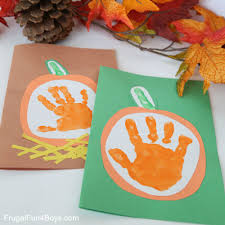 your little pumpkin u201d handprint card for kids to make