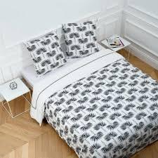 chemin de lit en lin parure de lit lily blanc madura