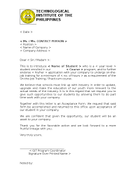 Example Of Application Letter For Ojt In Hotel   best hotel     Cover Letter Templates