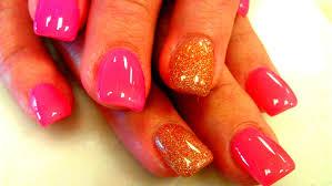 acrylic nails with gel polish application youtube