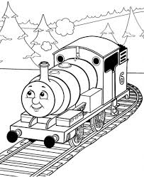thomas percy train with tree coloring pages cartoon