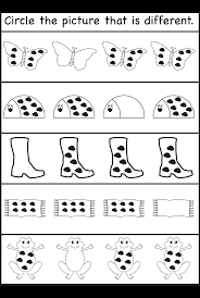 Halloween Printable Activities Circle The Picture That Is Different 3 Worksheets Printable