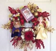 beauty and the beast wreath