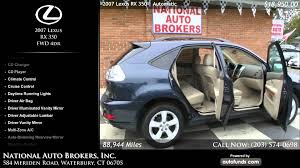 lexus rx 350 used miami 2007 lexus rx 350 fwd 4dr national auto brokers inc waterbury