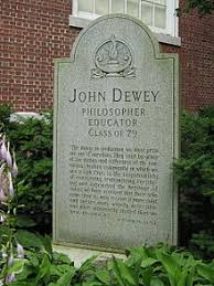 John Dewey   Wikipedia Grave of Dewey and his wife in an alcove on the north side of the Ira Allen Chapel in Burlington  Vermont  The only grave on the University of Vermont