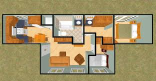 the big t squared 480 sq ft shipping container floor plan cozy